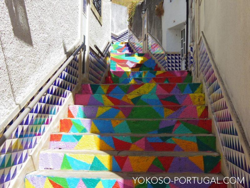 階段もカラフル。