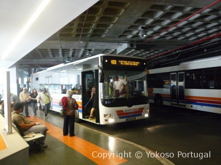 カスカイスのバスターミナル